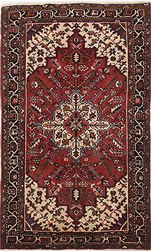 "Persian Heriz  Wool Red Area Rug  (3'3"" x 5'3"") - 250 - 17168"