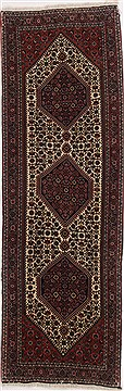 Persian Bidjar Beige Runner 6 to 9 ft Wool Carpet 17518