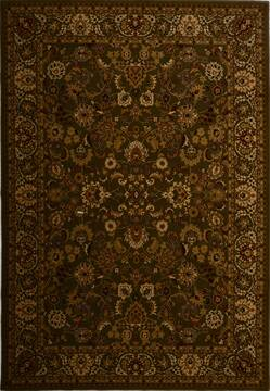 Turkish Mahal Green Rectangle 7x10 ft synthetic Carpet 17607