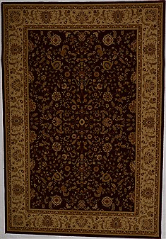 Turkish Hereke Red Rectangle 7x10 ft synthetic Carpet 17608