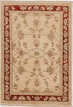Pakistani Ziegler Yellow Rectangle 3x4 ft Wool Carpet 17628