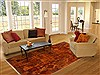 Patchwork Multicolor Hand Knotted 79 X 101  Area Rug 250-17715 Thumb 4
