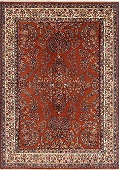 Indian Tabriz Beige Rectangle 5x7 ft Wool Carpet 17729