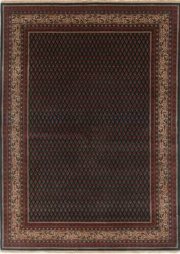 Indian Mood Green Rectangle 5x7 ft Wool Carpet 17739