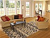 Modern Multicolor Hand Knotted 80 X 103  Area Rug 250-17742 Thumb 4