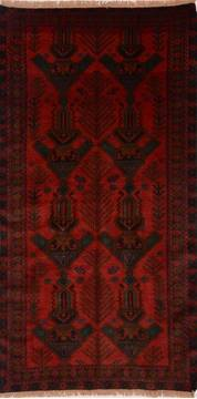 Afghan Baluch Red Rectangle 5x7 ft Wool Carpet 17895