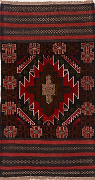"Baluch Red Hand Knotted 2'7"" X 4'7""  Area Rug 100-17910"