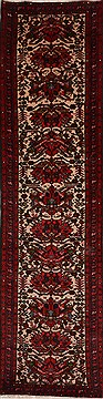 Persian Karajeh Red Runner 6 to 9 ft Wool Carpet 18051