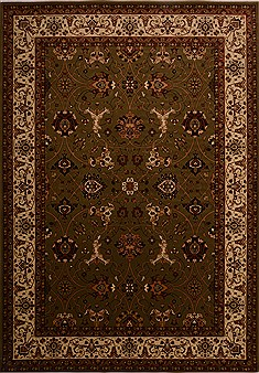 "Bidjar Green Machine Made 7'10"" X 11'2""  Area Rug 100-18099"