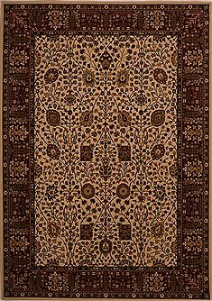Turkish Viss Beige Rectangle 8x11 ft synthetic Carpet 18107