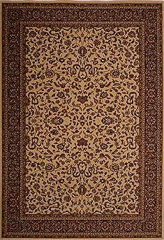 "Kashan Beige Machine Made 7'10"" X 11'2""  Area Rug 100-18110"