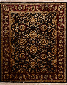 "Indian Indo-Nepal  Wool Beige Area Rug  (8'0"" x 9'10"") - 100 - 18159"