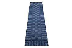 "Nepal Indo-Nepal  Wool Blue Runner Area Rug  (2'8"" x 10'0"") - 151 - 18252"