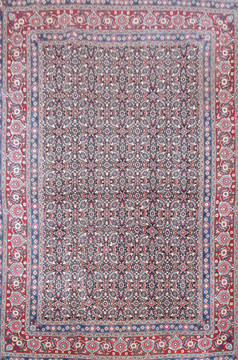 Persian Mood Blue Rectangle 8x11 ft Wool Carpet 18932