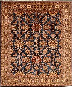 "Pakistani Kazak  Wool Blue Area Rug  (8'4"" x 10'1"") - 250 - 18970"