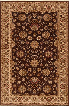 "Agra Brown Hand Knotted 5'11"" X 9'2""  Area Rug 250-19033"