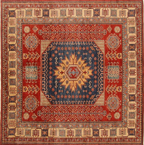 kazak red square hand knotted 8u00273