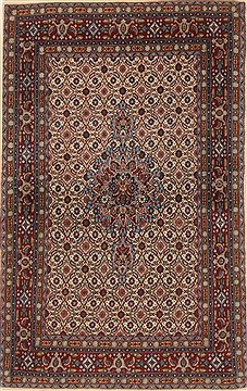 Persian Mood Red Rectangle 3x5 ft Wool Carpet 19265