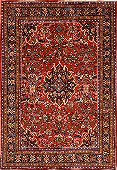 Persian Mahal Red Rectangle 7x10 ft Wool Carpet 19270