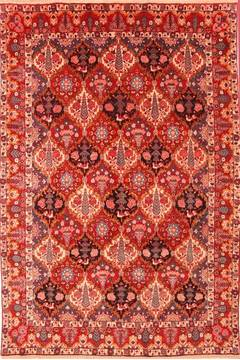 Persian Bakhtiar Red Rectangle 7x10 ft Wool Carpet 19302