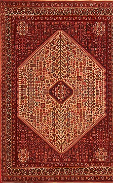 Persian Abadeh Red Rectangle 7x10 ft Wool Carpet 19316