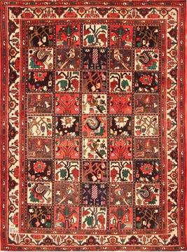 "Bakhtiar Red Hand Knotted 7'2"" X 9'6""  Area Rug 100-19320"