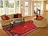 Abadeh Red Hand Knotted 67 X 911  Area Rug 100-19322 Thumb 4