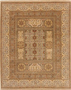 Indian Chobi Blue Rectangle 8x10 ft Wool Carpet 19392