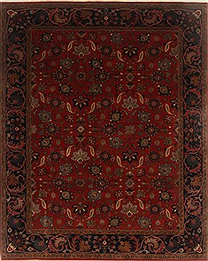 "Mahal Red Hand Knotted 8'0"" X 10'0""  Area Rug 250-19470"