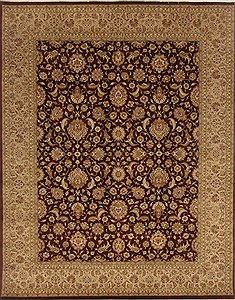 Pakistani Pak-Persian Brown Rectangle 8x10 ft Wool Carpet 19662