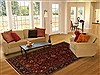 Sarouk Red Hand Knotted 62 X 811  Area Rug 250-19735 Thumb 4