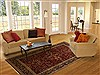 Sarouk Red Hand Knotted 63 X 91  Area Rug 250-19743 Thumb 4