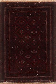 """Afghan Afshar  Wool Blue Area Rug  (3'10"""" x 5'6"""") - 250 - 19914"""