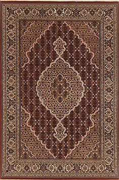 "Mahal Brown Hand Knotted 4'0"" X 6'1""  Area Rug 250-19940"