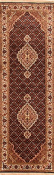 "Mahi Black Runner Hand Knotted 2'7"" X 8'2""  Area Rug 100-20011"