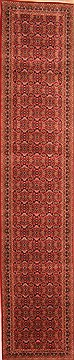 "Tabriz Red Runner Hand Knotted 2'8"" X 12'11""  Area Rug 100-20015"