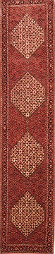 "Bidjar Red Runner Hand Knotted 2'9"" X 12'8""  Area Rug 100-20018"