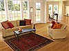 Sarouk Red Hand Knotted 50 X 68  Area Rug 250-20104 Thumb 5