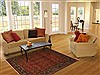Sarouk Red Hand Knotted 411 X 69  Area Rug 250-20105 Thumb 5
