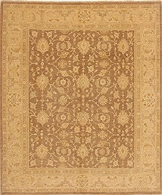 Pakistani Chobi Brown Rectangle 8x10 ft Wool Carpet 20151