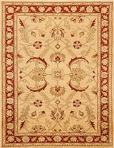 Pakistani Chobi Beige Rectangle 5x7 ft Wool Carpet 20325