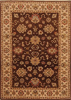 "Agra Brown Hand Knotted 4'11"" X 7'0""  Area Rug 250-20333"