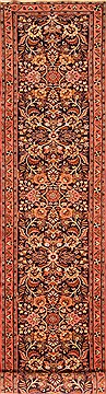 "Birjand Blue Runner Hand Knotted 2'10"" X 13'4""  Area Rug 100-20502"