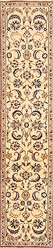 "Persian Naeen  Wool White Runner Area Rug  (2'3"" x 9'10"") - 253 - 20504"