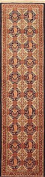 "Varamin Red Runner Hand Knotted 2'7"" X 10'1""  Area Rug 100-20505"