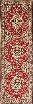 "Nain Beige Runner Hand Knotted 3'2"" X 10'0""  Area Rug 100-20512"