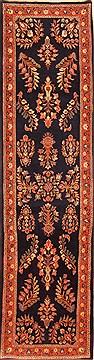 "Persian Saroogh  Wool Blue Runner Area Rug  (2'7"" x 9'6"") - 253 - 20513"