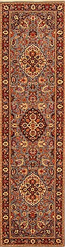 "Tabriz Blue Runner Hand Knotted 2'7"" X 9'7""  Area Rug 100-20535"