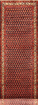 Persian Malayer Red Runner 13 to 15 ft Wool Carpet 20550