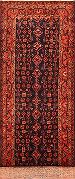 "Hamedan Red Runner Hand Knotted 3'10"" X 14'5""  Area Rug 100-20552"